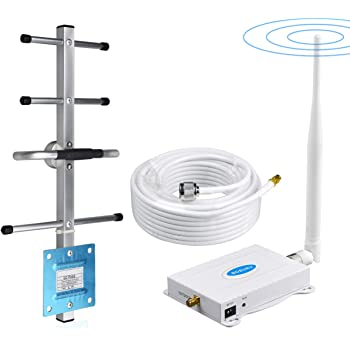AT&T Cell Phone Signal Booster 4G LTE Band12 /17 700Mhz US Cellular T-Mobile ATT Cell Signal Booster Boost Data+Voice Mobile Signal Booster AT&T Cell Phone Signal Amplifier with Antenna Kit for Home