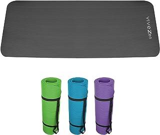 Vivezen ® Tapis de yoga, de gym, d'exercices 180 x 60 X 1,2 cm + sac de transport - 4 coloris - Norme CE