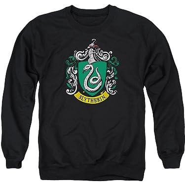 Harry Potter Slytherin Crest Adult Crewneck Sweatshirt Black