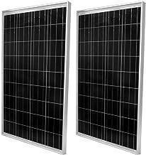 WindyNation 2pcs 100 Watt Polycrystalline Solar Panel Off-Grid 12 Volt (12V) Battery Charging for RV Boat