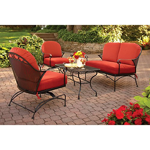 Better Homes & Gardens Clayton Court 4-Piece Patio Furniture Conversatio Set, Metal