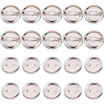Pandahall 20 spillette argentate vuote con spazio interno bianco da 30 mm