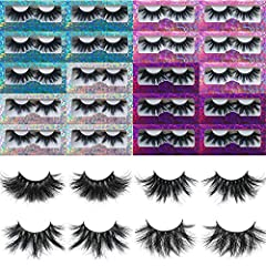 【20 PAIRS 25MM MINK LASHES BULK】: Mikiwi 25MM 3D mink lashes is made of 100% real siberian mink hair shedding from young mink ,which is totally cruelty free product. 【PURE HANDMADE BY SKILLED WORKER】: Mikiwi Lashes are 100% hand made in every step up...