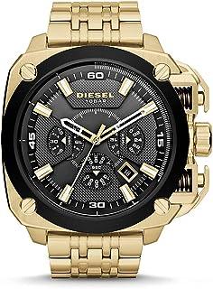 Diesel Mens BAMF - DZ7378, Black/Gold, One size, Bracelet