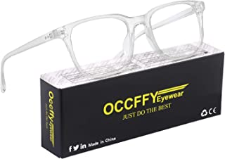 Occffy Occhiali Luce Blu con Anti UV Eyestrain Occhiali Anti Luce Blu per PC, Tablet, Gaming e TV Uomo Donna Oc092 (Traspa...