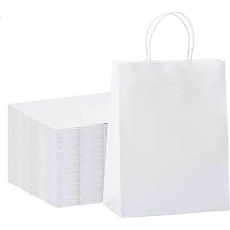 Tiger Image Reusable Large White Shopping Bag 38 x 42cm