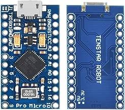 KOOKYE 5PCS Pro Micro ATmega32U4 5V/16MHz Module Board with 2 Row pin Header for arduino Leonardo Replace ATmega328 Arduino Pro Mini