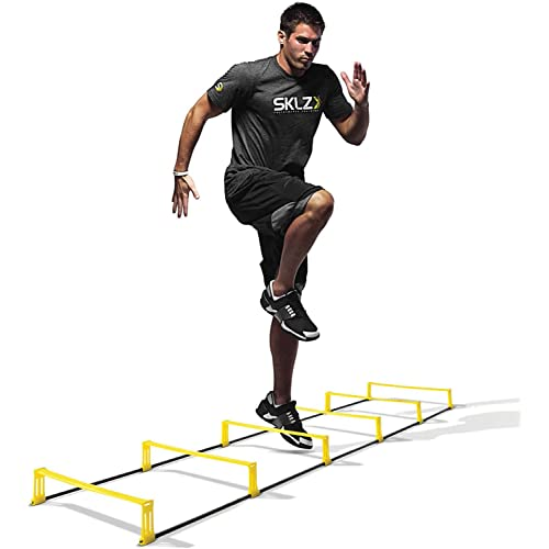SKLZ Elevation Ladder Scaletta per l'Agilità con Ostacoli 2 in 1, Nero/Giallo