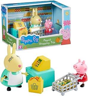 Karakter World Shopping Trip | Speelset | Peppa Pig | met figuur Peppa & Miss Konijn