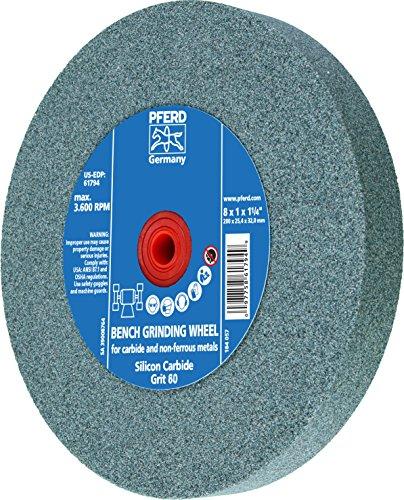 PFERD 61795 Bench Grinding Wheel, Silicon Carbide, 8