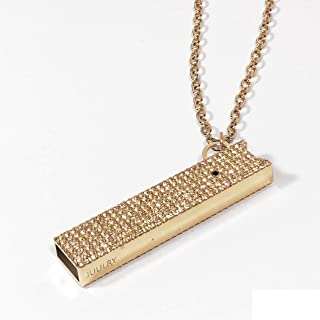 JUUL Pave case with Necklace and Key Chain Attachment (Gold)