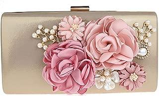 Women Rose Pure Color Handbag Evening Cocktail Wedding Party Handbag Clutch