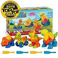 Creative Kids Build & Learn Dinosaur Take Apart Toy Set Wit Tools Interlocking STEM Educational Construction Kit for Preschool, Kindergarten, Boys Age 3+, Multi Colour [並行輸入品]