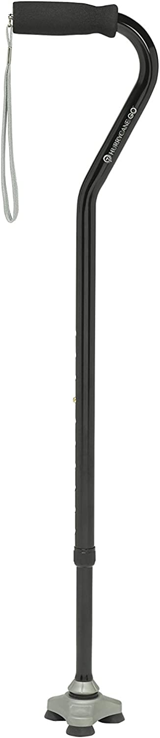 HurryCane Go Cane with T Handle Same day Ranking TOP19 shipping Black