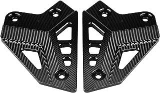 Paar Fußrastenschutz, Motorrad Fußstütze Fußrastenschutz Fersenschutz Abdeckung für Kawasaki Z900 2017(Schwarz)