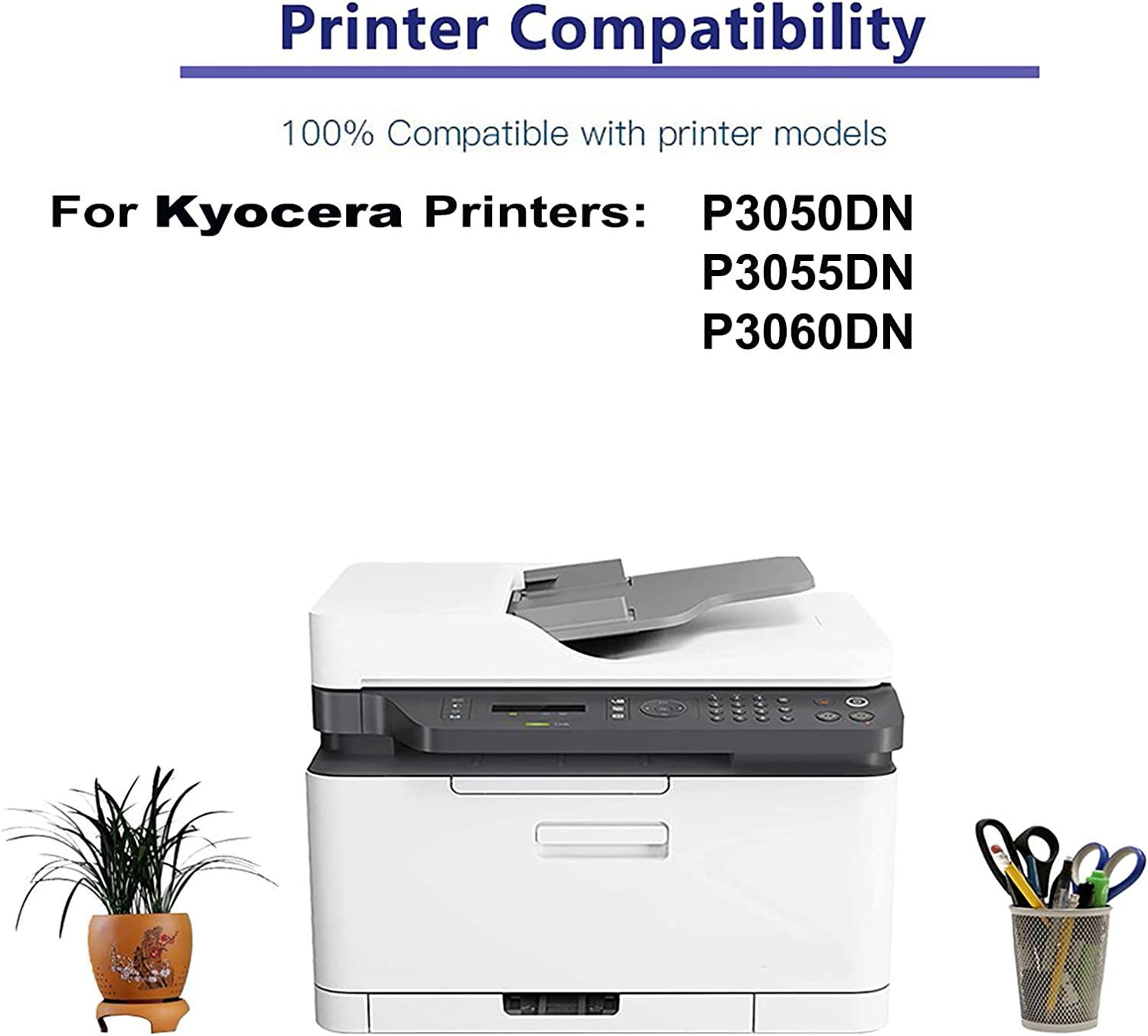 8-Pack Compatible High Yield P3050DN, P3055DN, P3060DN Printer Cartridge Replacement for Kyocera TK-3170 TK3170 Toner Cartridge (Black)
