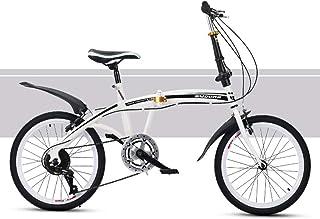 20 Inch Lightweight Mini Folding Bike, Folding City Bicycle Bike Mountain Bike Ladies Bicycles Dirt Bike Road Bike Damping...