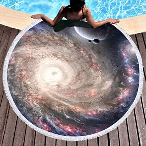 Koongso - Toalla de Playa y Manta, diseño de Cielo Estrellado con Flecos y borlas, 150 cm