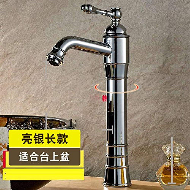Bijjaladeva Wasserhahn Bad Wasserfall Mischbatterie WaschbeckenDie Hohen-Kupfer Waschbecken Armaturen Waschtisch mit Tisch Becken Schwarz Waschbecken mit Warmen und Kalten Spinner