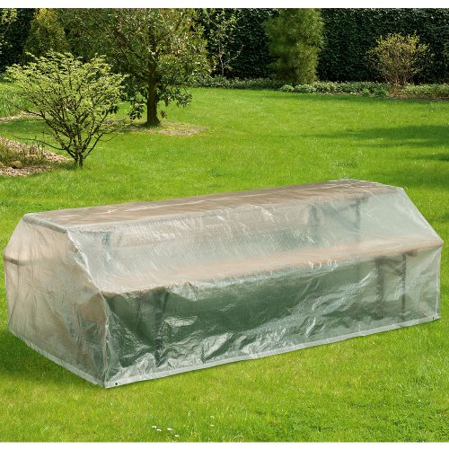 Hummelladen Coque de Protection pour bancs, 220 x 120 cm, Capot, Transparent
