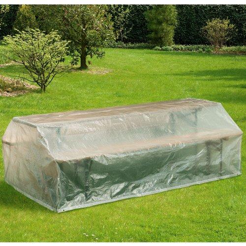 Hummelladen Coque de Protection pour bancs, 220 x 120 cm, Capot, Transparent