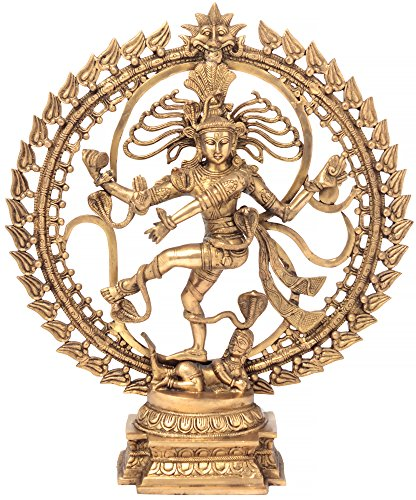 Exotic India Nataraja Tanzende Shiva Statue, Messing, Messing Natur, 53x 13x 60cm
