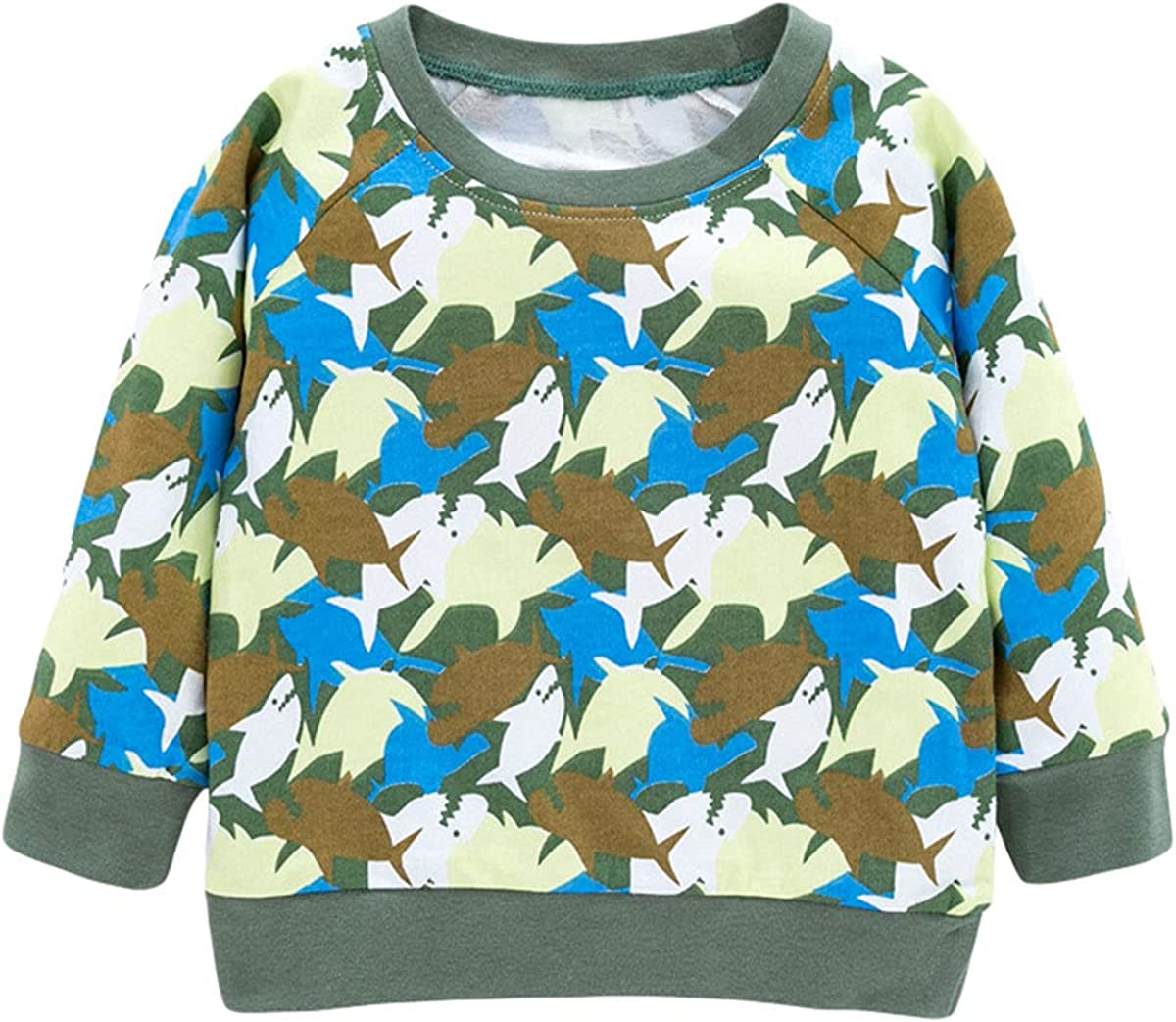 Toddler Boy's and Girl's Long-Sleeve Pullover Sweater Cartoon Graphic Playwear 2-7T