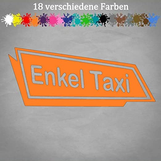 Generic Enkel Taxi 20x8cm Aufkleber Granny Best Sticker Heckscheibe Party Mobil Spruch In 18 Farben Auto
