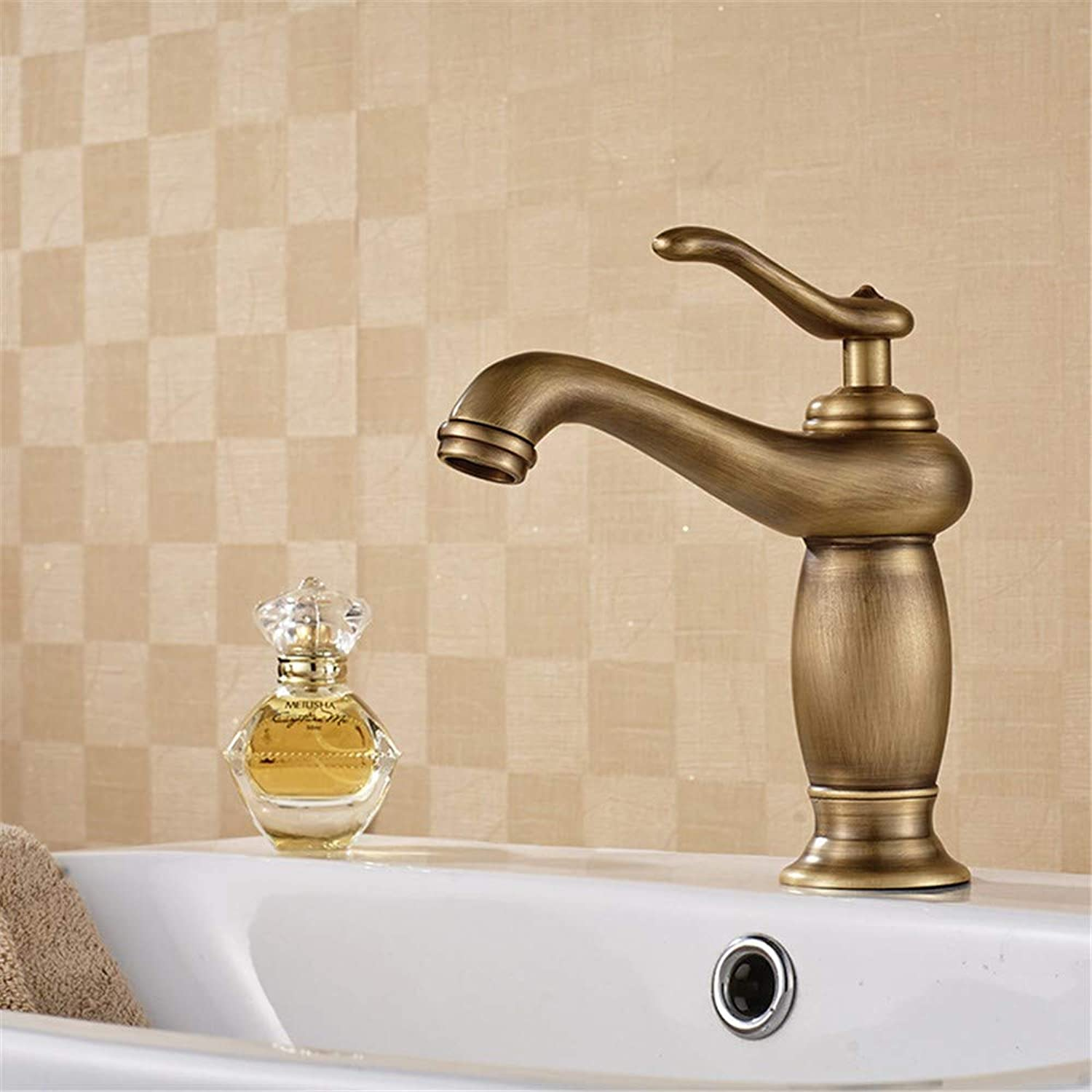 Zhcmy ?Copper Hot And Cold Basin Mixer Faucet gold Above Counter Basin Faucet European Style