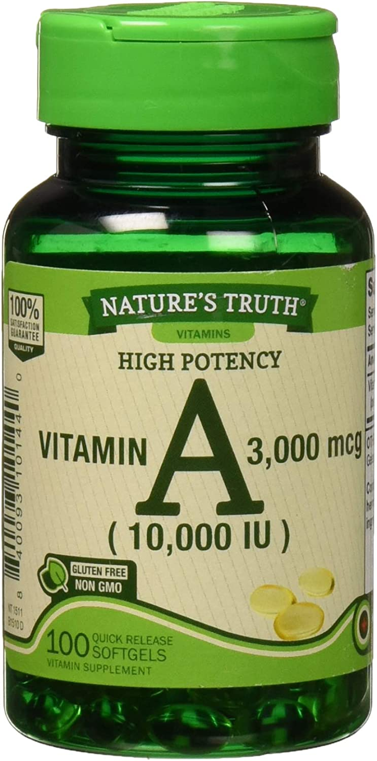 Natures Truth Vitamin A 10 Minneapolis Max 58% OFF Mall 000 Release 100 Co Iu Quick Softgels