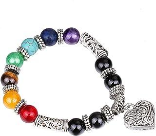 Hithop Jewelry Chic Retro 7 Chakra Healing Yoga Reiki Prayer Bead Bracelet Buddha Head Bracelet