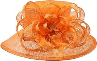 Womens Loop Feathered Medium Brim Sinamay Hat