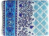 Colcha Bouti Primavera y Verano Mosaicos Azules para Cama de...