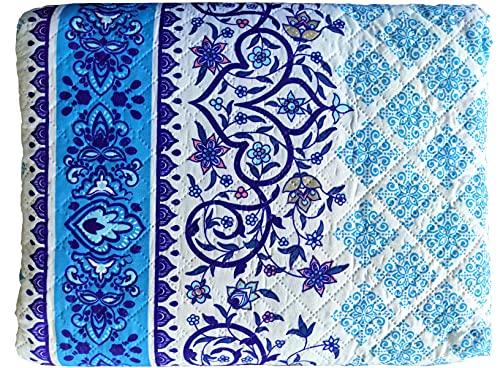 Colcha Bouti Primavera y Verano Mosaicos Azules para Cama de (Cama 90)