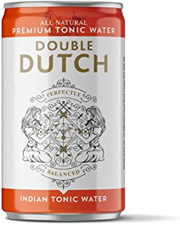 Double Dutch - 150ml - 24 Cans - Indian Tonic Water | 100% Natural Ingredients | Low Calorie | Perfect Mixer for Cocktails...