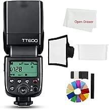 Godox TT600 2.4G Wireless Master Slave Camera Flash Speedlite Built in Godox X System Receiver Compatible Compatible Canon Nikon Sony Olympus Fujifilm Pentax Camera + Diffuser