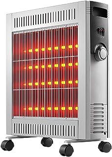 DHR Termoventiladores calefactores 2400w calentador eléctrico con 4 Ajuste de la velocidad de Protección de Seguridad, Calefacción portátil de casa for sala de estar dormitorio Librería, Dark Light Si