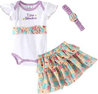 Mud Kingdom Cute Baby Girl Outfits with Headbands