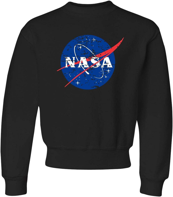 Go All Out Bargain sale Youth Distressed Sweatshirt Translated Logo Crewneck NASA