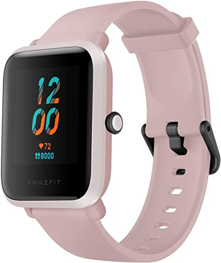 Amazfit Bip S Fitness Smartwatch, 40 Day Battery Life, 10 Sports Modes, Heart Rate, 1.28'' Always-On Display, Water Resistant, Built-in GPS, Warm Pink