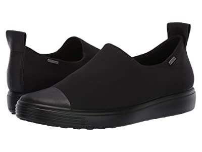 ECCO Soft 7 GTX Slip-On (Black/Black/Black) Women