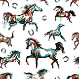 5D DIY Diamond Painting Kits Moving Horses OrientalAbstract Cowboy Horse Art Animal Artistic Artwork Asia Full Drill Painting Arts Craft Canvas for Home Wall Decor Full Drill Cross Stitch 12X16 Inch