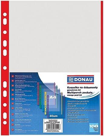 ELBA Prospekthülle DIN A4 mit farbigem Rand PP 0,09 mm farbig sortiert 10 Hüllen