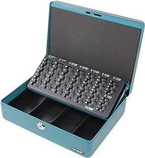 HMF 10015-24 Caja de caudales, bandeja para contar monedas 30 x 24 x 9 cm, petrol