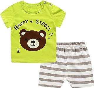 Baby Boys/Girls Cartoon Short Sleeve Shirt Top + Shorts