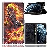 Sinyunron Handy Schutzhülle Kompatibel mit DOOGEE BL12000 Hülle Handy Tasche Hülle Handyhülle Lederhülle mit Kartenfächer,Ständer,Magnetverschluss,Hülle06C
