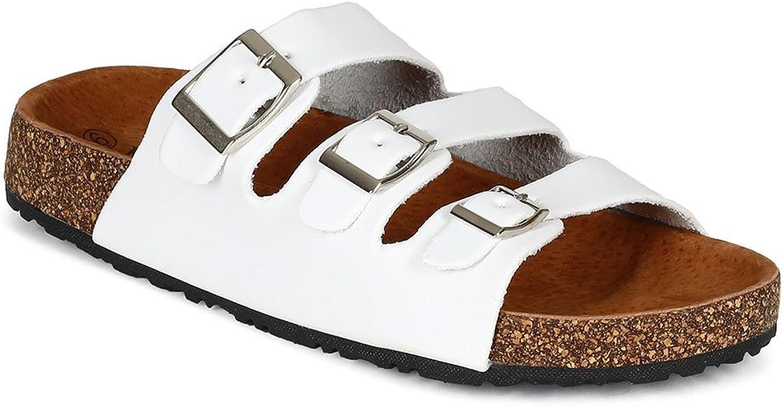 Natur Breeze BB85 BB85 BB85 Kvinnor Brushed lädertte Open Toe Strappy Sandal - vit läderette  100% äkta motgaranti