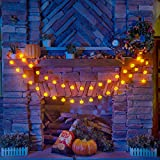KPCB Halloween Lichterkette, Halloween Kürbis Deko Lichterkette, Kürbis Lichterkette für Halloween, 5.4m 40 LEDs Kürbis Lichter Batteriebetrieben für Halloween Party Hause Garten - 4