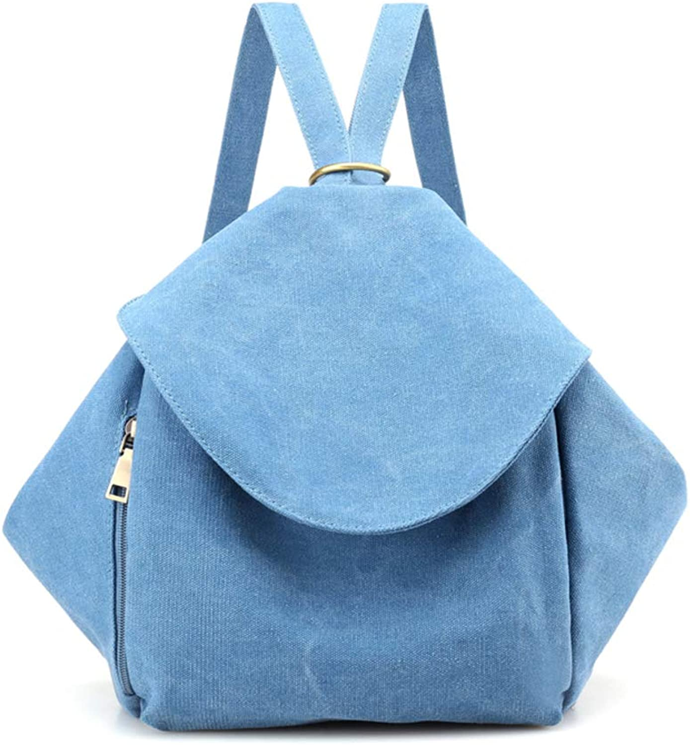 Casual Canvas Backpack,Women's MultiPurpose Diagonal PackageA