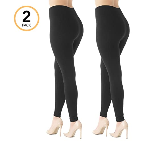 e818c704387ec Premium Women's Fleece Lined Leggings - High Waist - Regular and Plus Size  - 20+